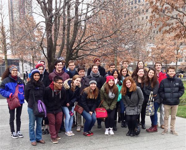 Students around Survivor Tree