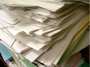 photo of large stack of paper