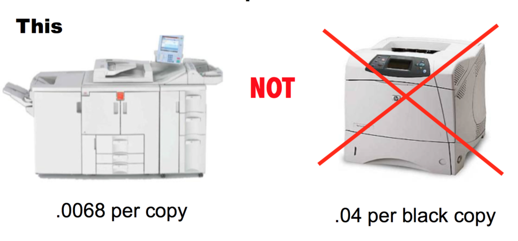 print at copier not printer