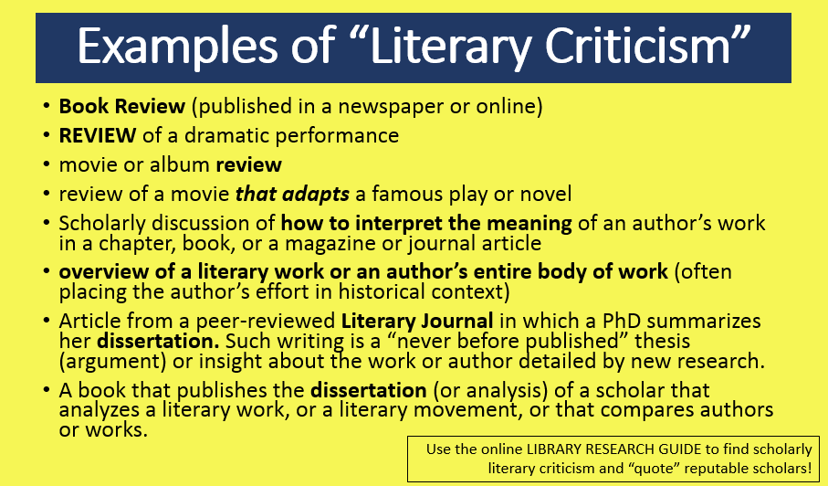 LiteraryCriticism