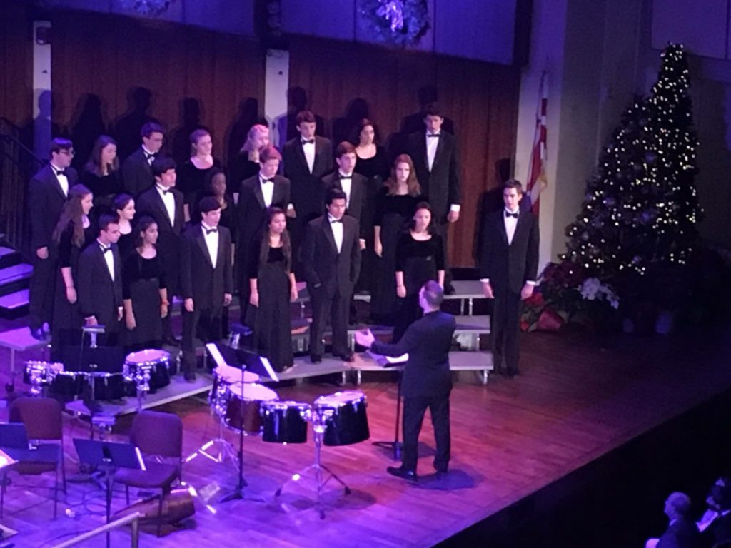 Photo of Chamber singers at the Kennedy Center