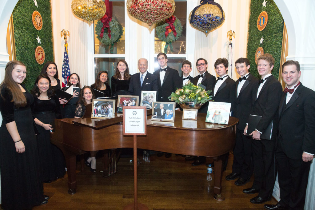 Photo of Chamber singers at VP residence
