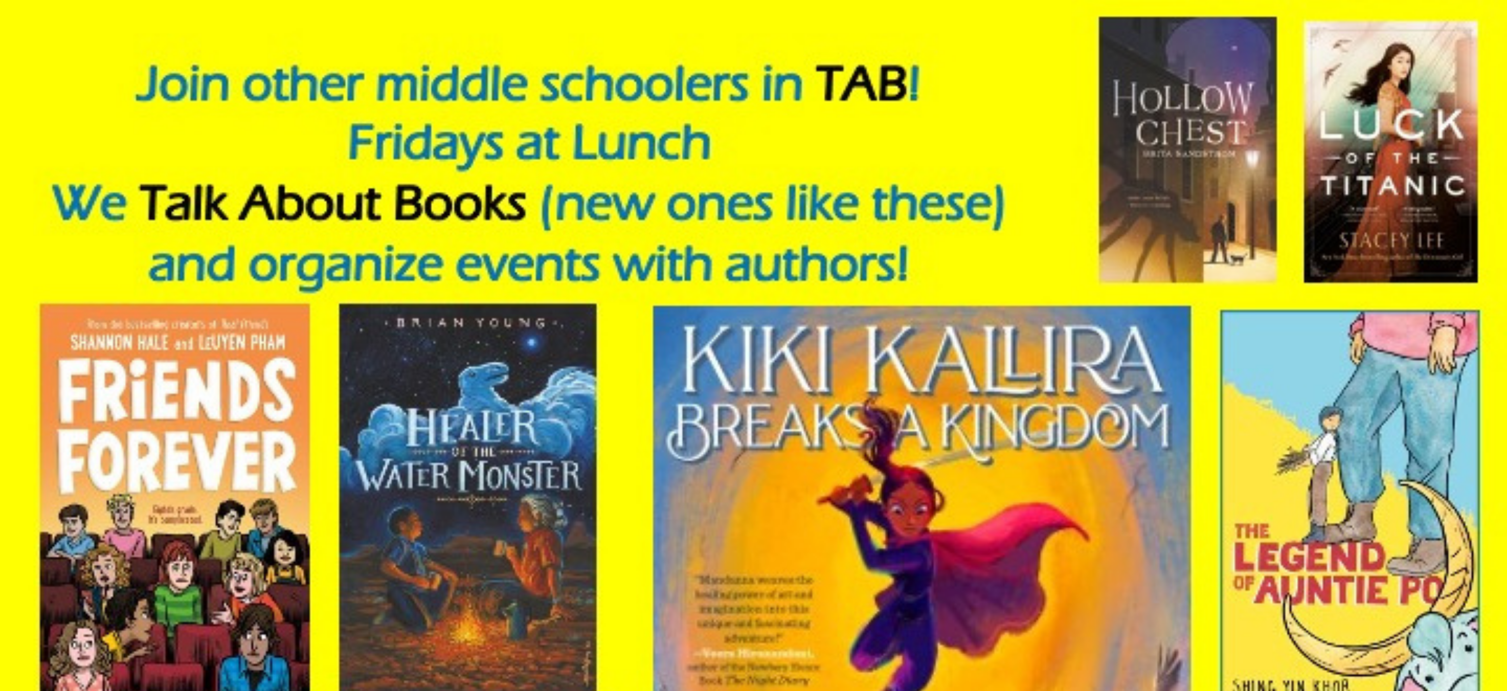 Join Middle School TAB!